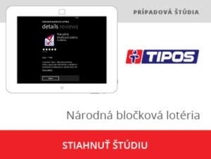 Mobilná a webová aplikácia pre Tipos Národná bločková lotéria