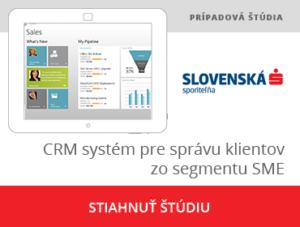 CRM systém pre správu klientov zo segmentu SME SLSP