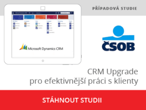CRM upgrade pro efektivní práci s klienty pro ČSOB